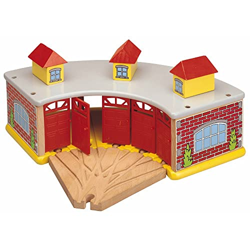 Toys For Play The Big Train Round House with 5-Way Track