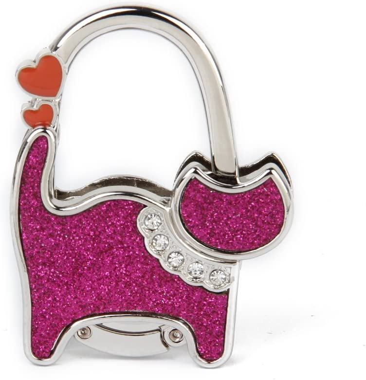 1pcs Round Foldable Purse Handbag Hanger Hook Artificial Crystal Women Bag Hanger Holder for Desk Table by TheBigThumb