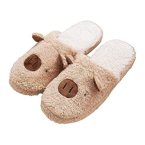 ef3fafd8 Kqpoinw Otoño Invierno Zapatillas Interior Casa Caliente Slippers Suave Algodón  Zapatilla Mujer Hombres Animados Pareja Zapatos: Amazon.es: Zapatos y ...