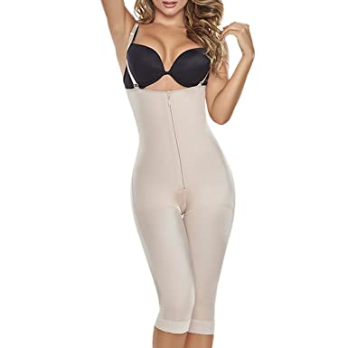 22148f6a52a TrueShapers 1222 Slimming Braless Body Shaper With Thighs Slimmer at Amazon  Women s Clothing store