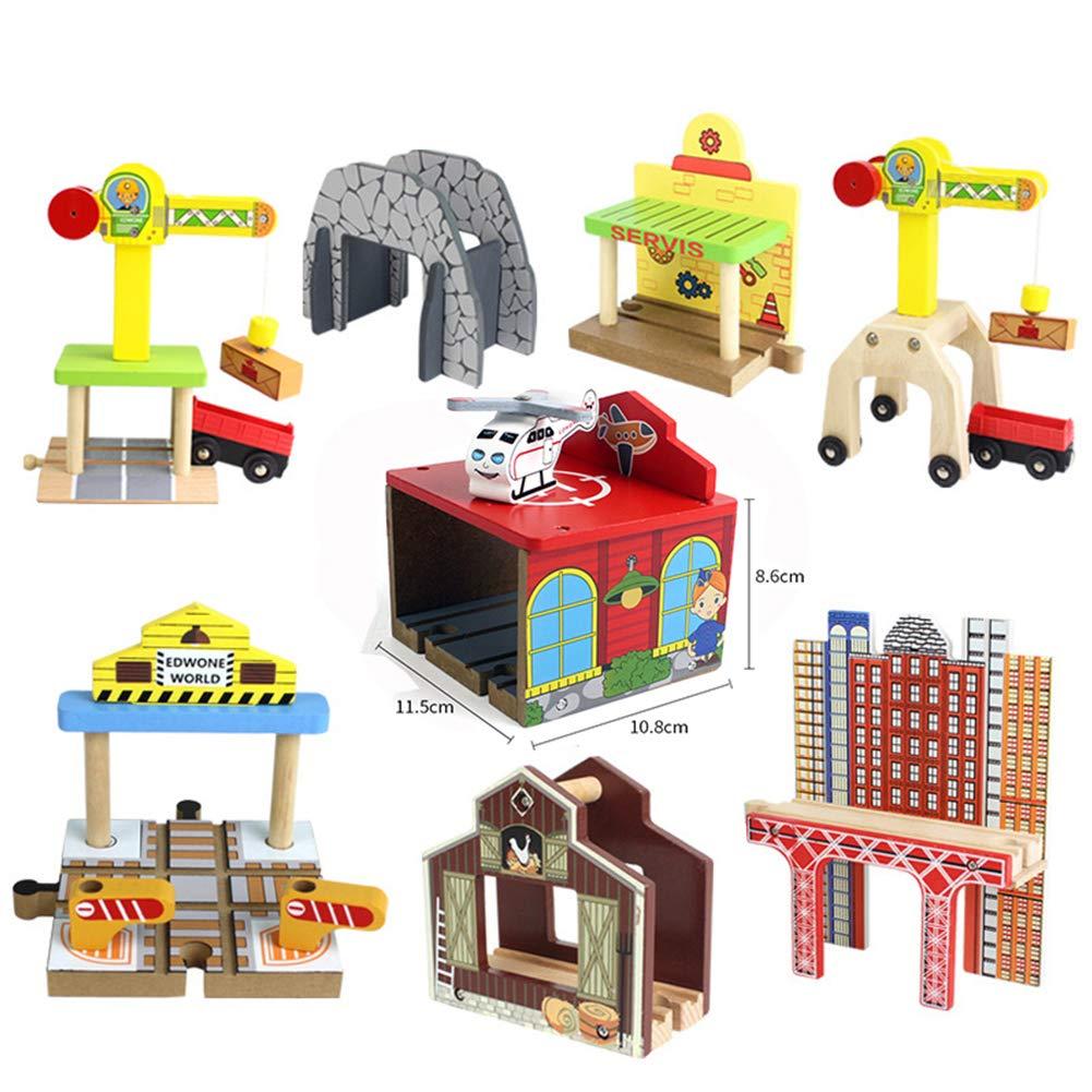 エレガントなDIY木製トラックツール ブリッジトレインレールトラックアクセサリー トーマスキッズ教育玩具に最適 LHJ-GG012-20190214-a168  Single Hole Bridge B07NQJXSXG