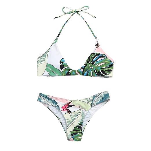 f2063b37675ce Amazon.com  Women s Retro Floral Print Bikini Set