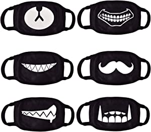 CIKIShield 6pack Ayo and Teo Cotton Face Mask for Adults Man Woman,Anti Dust Face Kids(Only fit Over 9 Years Old)