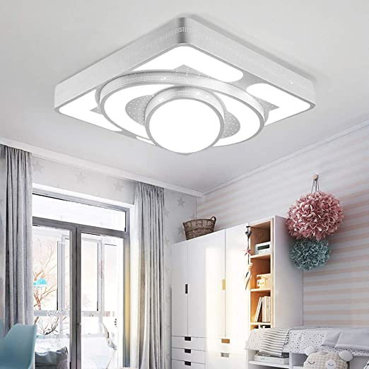 MYHOO 64W Blanco Frío LED moderno luz de techo lámpara de techo corredor sala de estar lámpara dormitorio cocina Luz ahorro de energía
