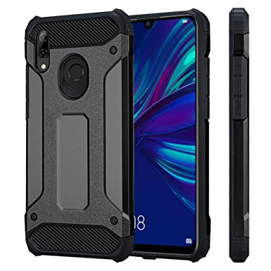 best sneakers 7b007 4238a VA For Huawei P Smart 2019 Phone Case ShockProof Dual Layer Armor Rugged  Hybrid Protective Back Cover For Huawei P smart 2019 (Black)