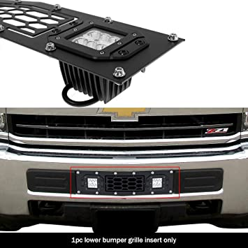 APS Compatible with 2015-2019 Chevy 2500HD 3500HD Lower Bumper Black Billet Grille Insert C66319H