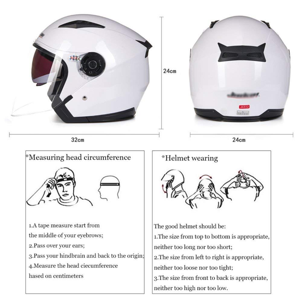 Amazon com : Goodscene Motorbike Flip Up Helmets Double Visor Open