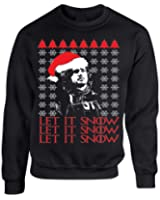 Allntrends Adult Crewneck Let It Snow Ugly Christmas Sweater Jon Snow Gift