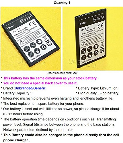 High Capacity 2600mAh Spare Excellent Replacement Battery for Cricket LG Risio 3 LMX210CMR Android phone - USA FAST SHIPPING