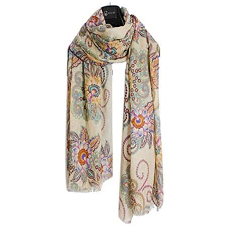 Vintage Women/'s Fashion Long Soft Paisley Chiffon Silk Scarf Wrap Shawl Scarves