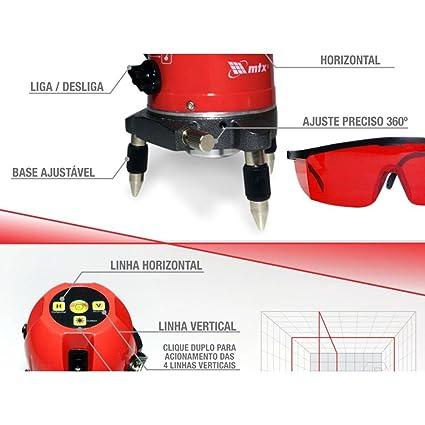45d6df43d79c4 Nível a Laser Automático 5 Linhas - Mtx  Amazon.com.br  Ferramentas e  Construção