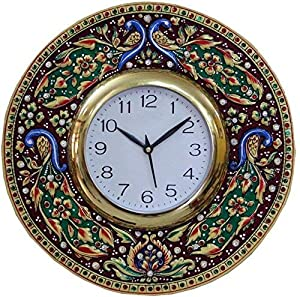 KK Craft Peacock Analog Wall Clock for Home