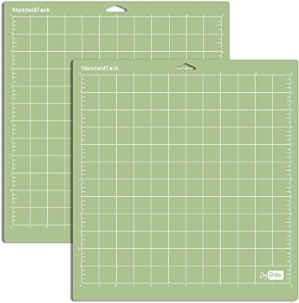 Standard Grip Cutting Mat for Cricut Explore One//Air//Air 2//Maker 3 Packs Cut Mats Replacement Accessories for Cricut Green 12 x 24 inch