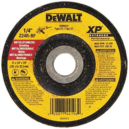 DEWALT DW8814 5-Inch by 1/4-Inch by 7/8-Inch XP Grinding Wheel