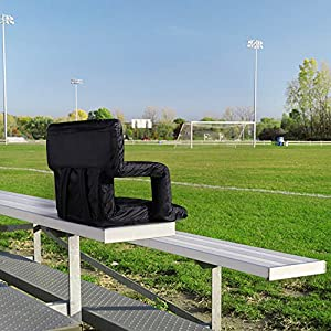 SONGMICS Portable Stadium Seat Chair with Padded Cushion Shoulder Straps 6 Reclining Positions for Bleachers or Benches UGSS32B from Songmics