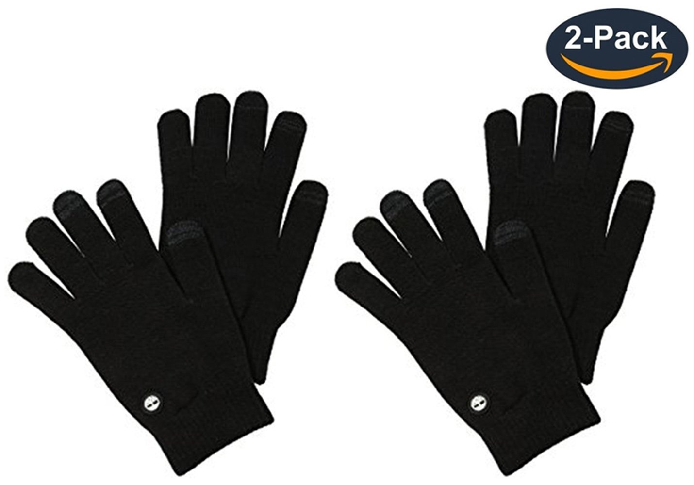 2 Pack:Timberland Men's Magic Glove with Touchscreen Technology, Black, One Size