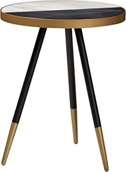 Baxton Studio 153 9084 Amz End Tables One Size Mable Brown Black Gold Amazon Ca Home Kitchen