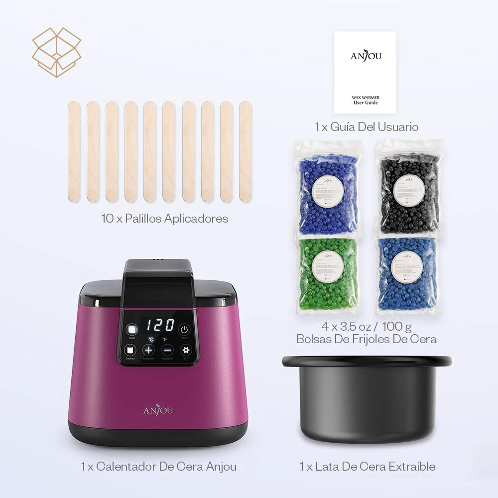 Calentador de Cera Anjou de la Aplicación Eléctrica, Kit de ...