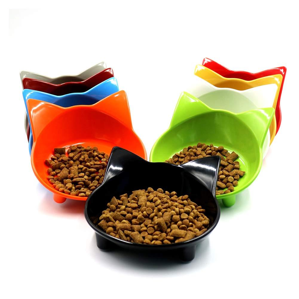 Newin Star Chat Mignon Bol Peu Profond Aliments Chats Bols Large Cat Plat Cat Non Slip Alimentation Bols Chats Bol Alimentaire (Couleur aléatoire) 1 PC