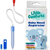 Nose Cleaner - Baby Nasal Aspirator - Booger Picker Suction - Snot Sucker For Congestion Relief - Safe Hygienic Snot Remover to Clear Infant Nostril and Remove Newborn Babies Mucus by Little Comforts