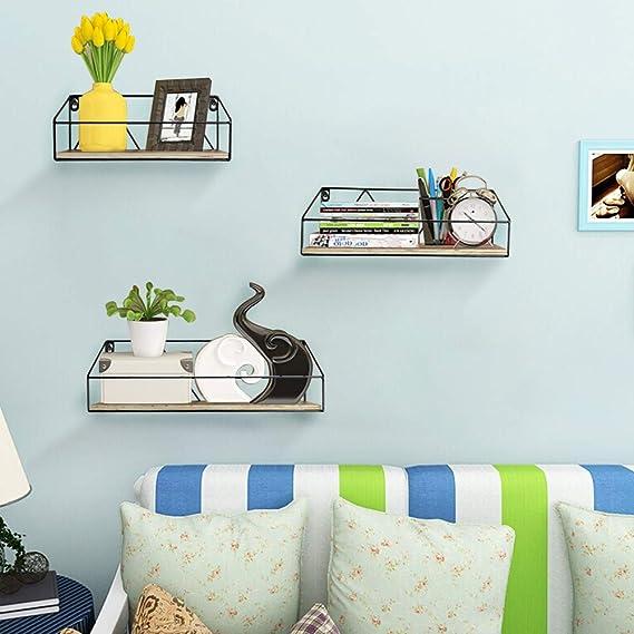 Multicolore Metallo 5x27x12 cm DiKasa Home Appendino Shabby 3 Ganci Stampa Fiori
