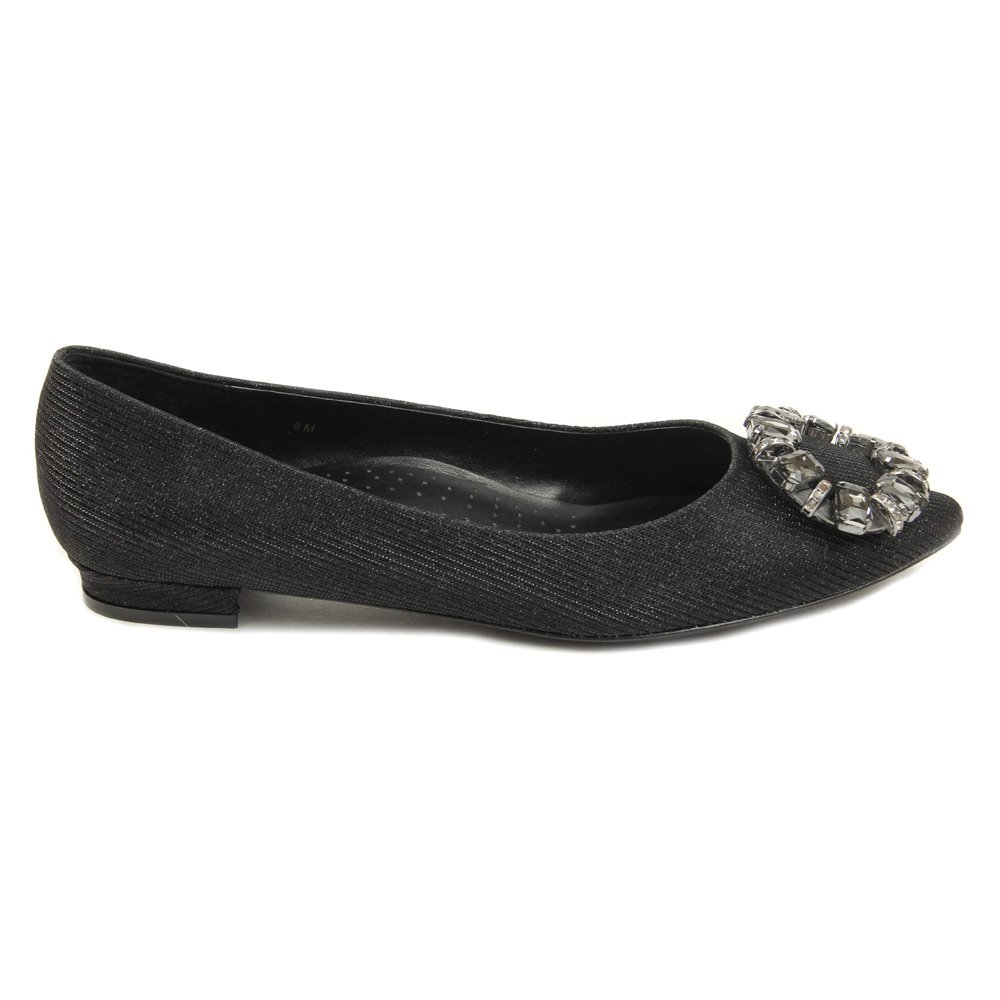 VANELi Women's Stevie B(M) Flats Shoes B01A7WTCO0 6 B(M) Stevie US Black Galassia/black/clear Stones 846ebe