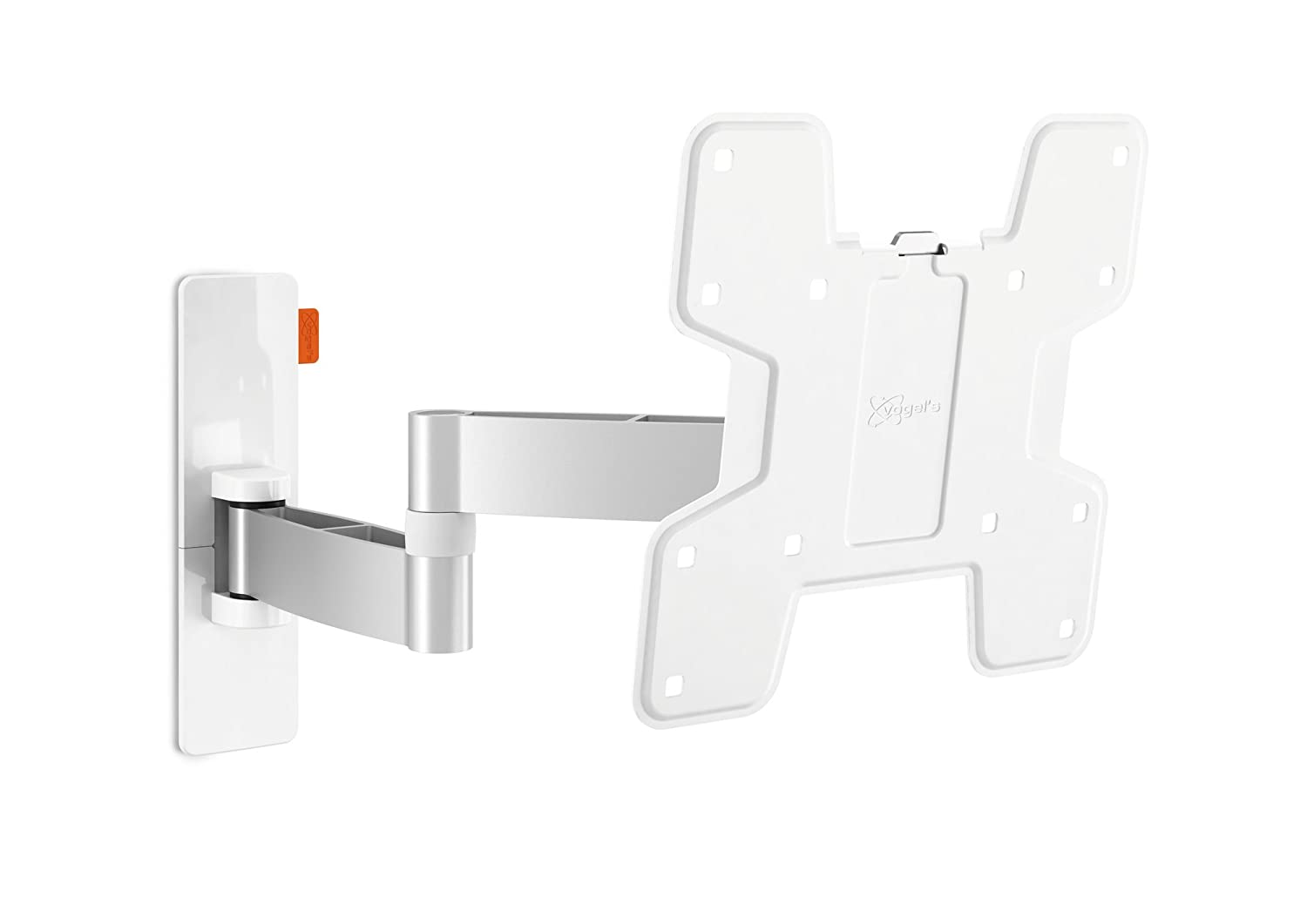 White 19 - 43\ Vogel's WALL 3145 White, TV wall mount bracket for 19 - 43 Inch TVs, Swivel and tilt 180º, Max 15 kg and up to VESA 200x200