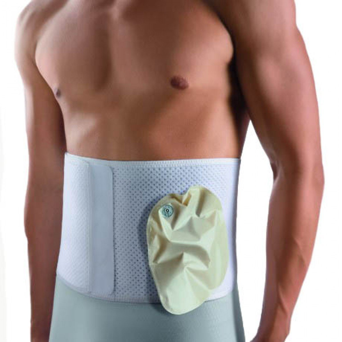 Bort Stoma Support Ostomy Hernia Belt for Colostomy Bag-L by Bort Medical