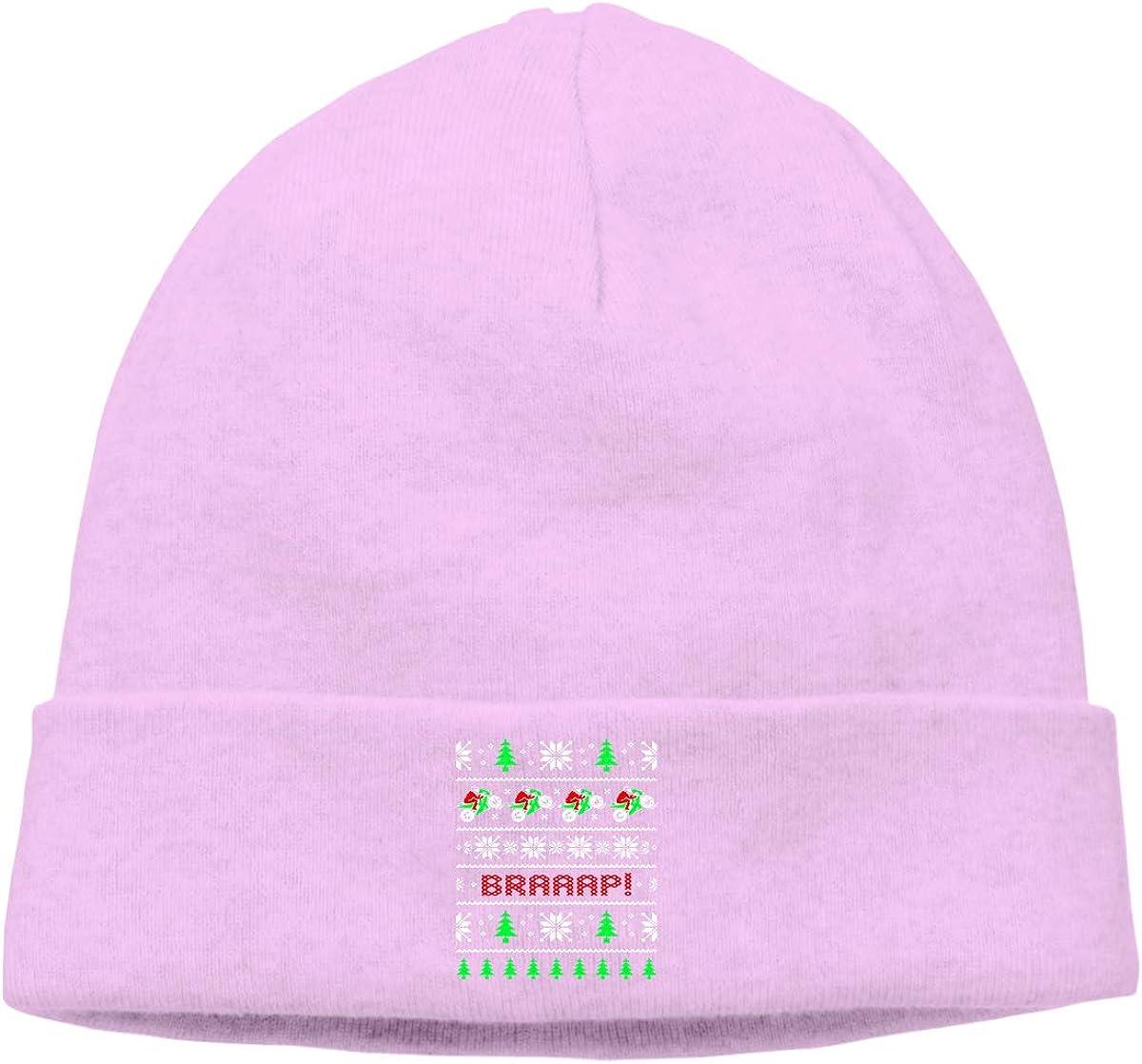09/&JGJG Braaap Motorcycle Christmas Men /& Women Fleece Beanie Hat Winter Warm Knitting Hats