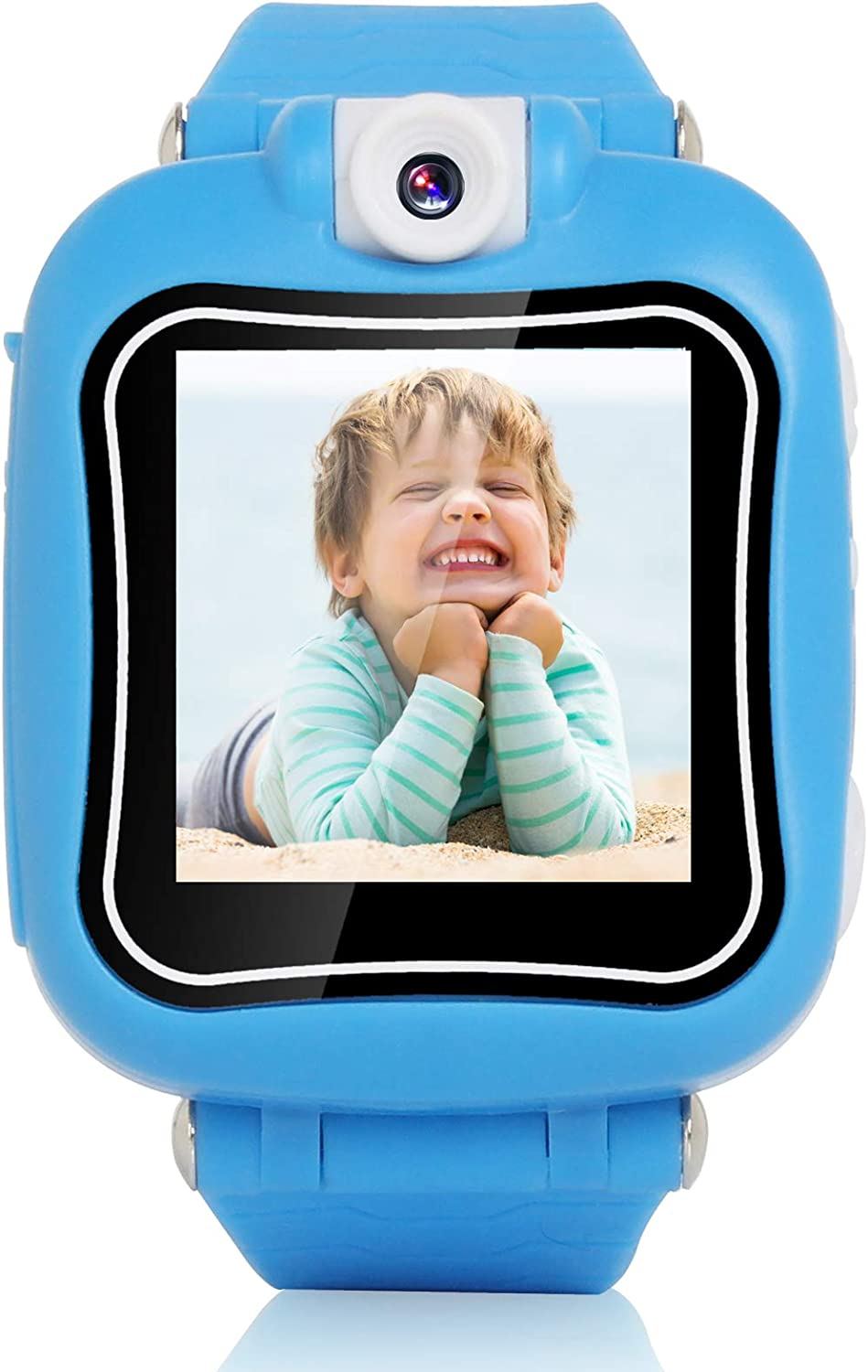 iCore Smart Watch for Kids, Kids Camera, Digital Smart Watch for Kids Boys, Digital Kid Watches Built in Selfie-Camera, Blue Watch with Toys Video Games for kids ages 4-8