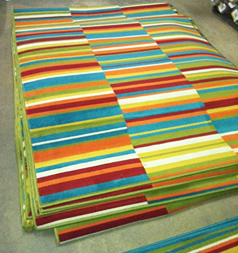 Al Fresco Broken Stripe 5 x 8 Outdoor Area by Shaw Living.! Brighten up you deck or patio are with this durable outdoor area rug.