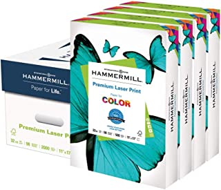 product image for Hammermill Printer Paper, Premium Laser Print 32 lb, 11 x 17-4 Ream (2,000 Sheets) - 98 Bright, Made in the USA
