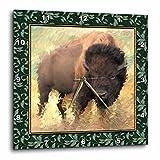 3dRose dpp_12006_1 Wall Clock, Winter Buffalo, 10 by 10-Inch Review