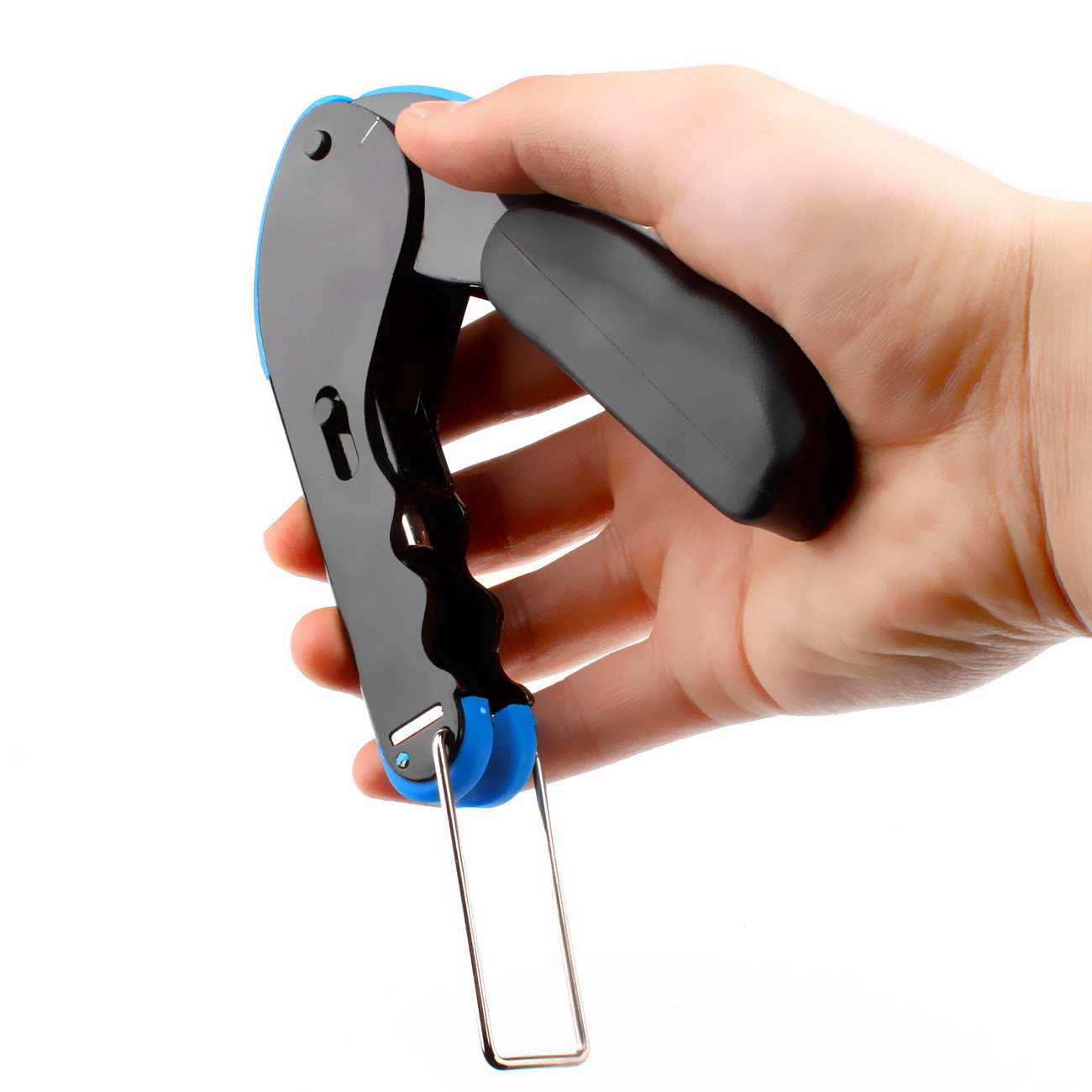 abcGoodefg RG59 RG6 RG11 Coax Compression Crimp Tool Connector Hand Crimper Crimping Tool Waterproof (Blue Tool Set) by abcGoodefg (Image #3)