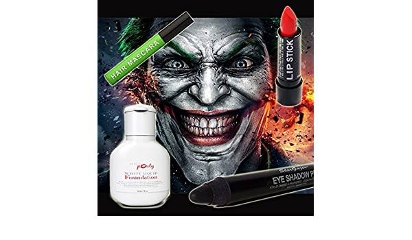 ... Joker Make-Up Set Of 4 - Miss Pouty White Liquid Foundation, Stargazer Red Lipstick, Stargazer Black Eye Shadow Pen And Stargazer Green Hair Mascara by ...