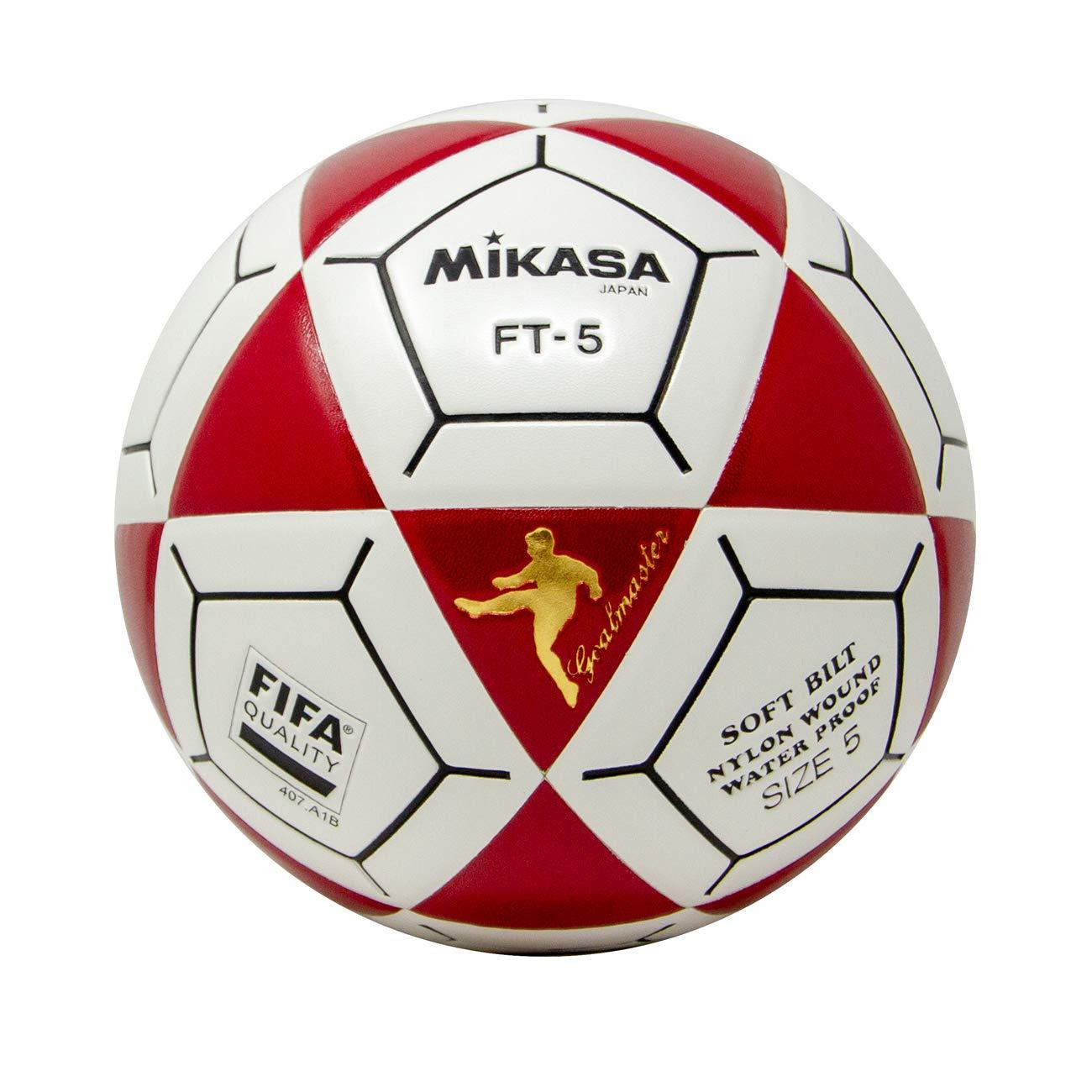 Mikasa FT5 Goal Master - Balón de fútbol, Color Rojo y Blanco ...