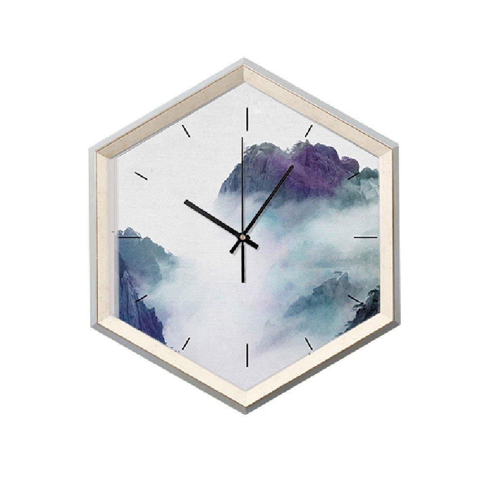 掛け時計 モダンシンプルな風景パターンの壁時計アートミュートベッドルームリビングルームの壁の装飾大きなサイズ49 * 29センチメートル Rollsnownow B07FKFMYN2