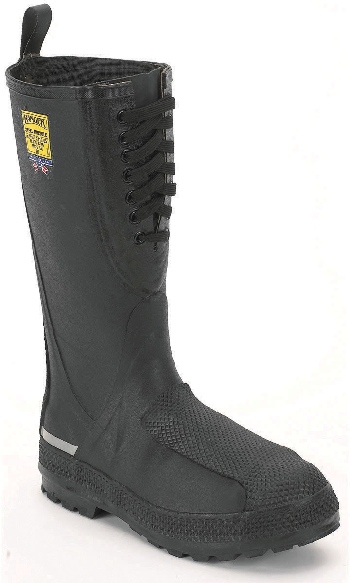 Size-6 Black Honeywell Safety 2221-6 Ranger Flanker 16 Metatarsal Safety Hi Pac for Mens