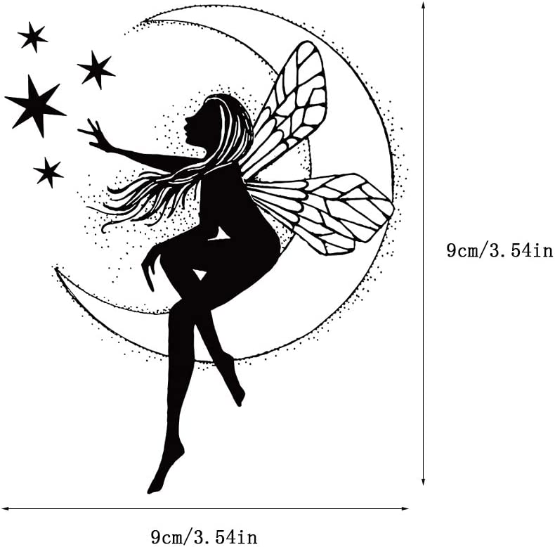 Jangmener Fairy Silicone Clear Stamps for DIY Scrapbooking Card Making Embossing Photo Album Crafts Decoration