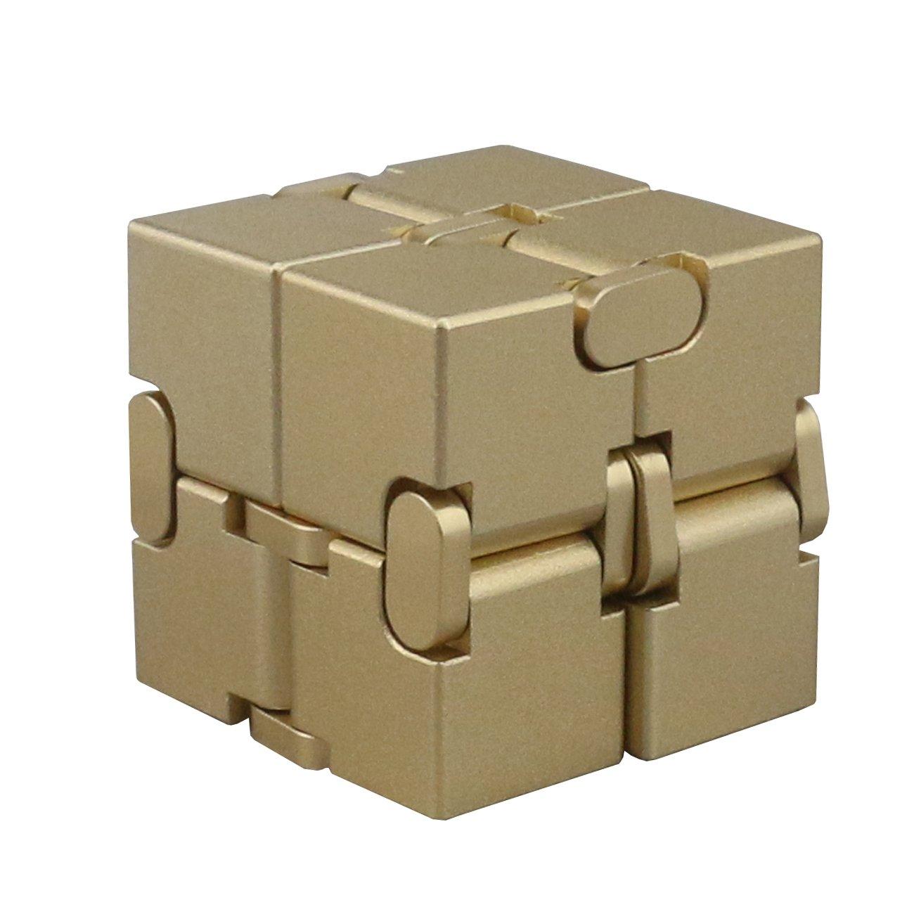 Ogrmar Aluminum Alloy Infinity Cube Fidget Toy Hand Killing Time Fidget Spinner Prime Infinite Cube For Adult and Children
