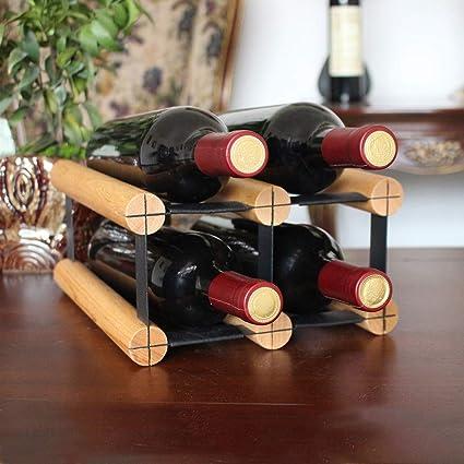 Estante de vino de madera maciza Segundo piso Hotel ...