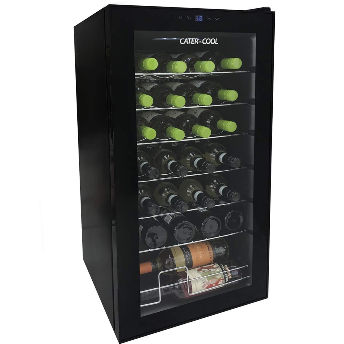 28 Bottle Single Door Commercial Wine Cooler Cater-Cool CK6028