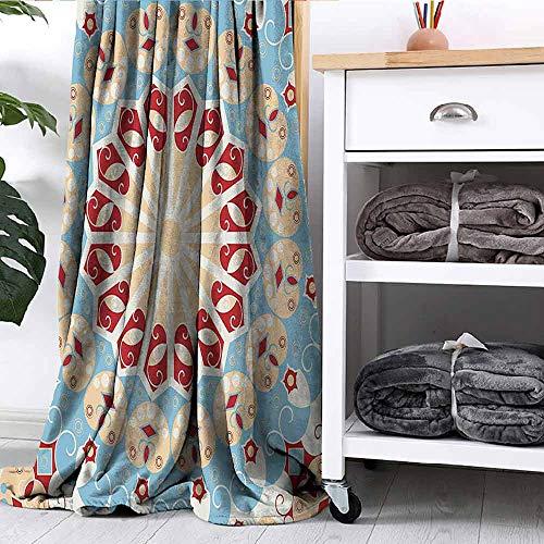 Blanket Luxurious Royal Classics Stylish Summertime Exotic Arabic Style Art Print Light Blue Red Ivory Bedroom Dorm Sofa Nursery Crate W70 xL84