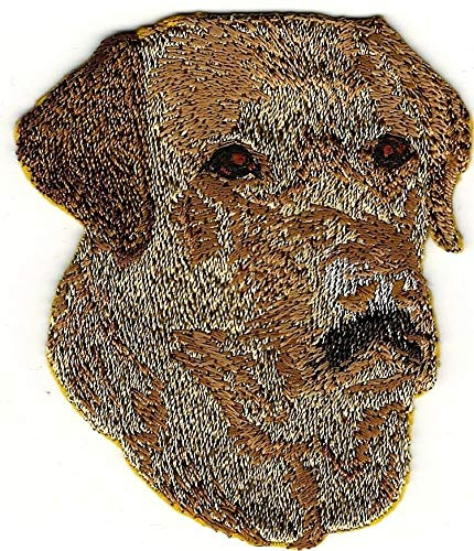 2 1/2'' x 3'' Yellow Lab Labrador Dog Breed Portrait Embroidery Patch