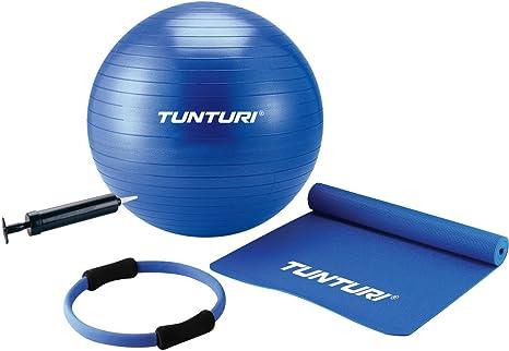Tunturi - Juego de Accesorios para Pilates (Pelota, Esterilla y ...