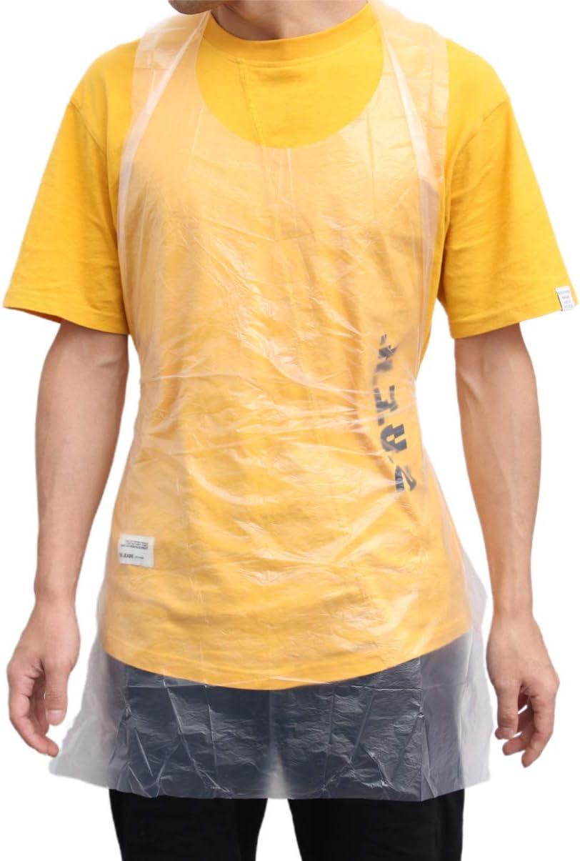 Hemoton 35 pcs Tablier en Plastique jetable Tabliers imperm/éable /à leau de Graisse Transparente Tabliers pour Adultes Peinture Cuisson Cuisine