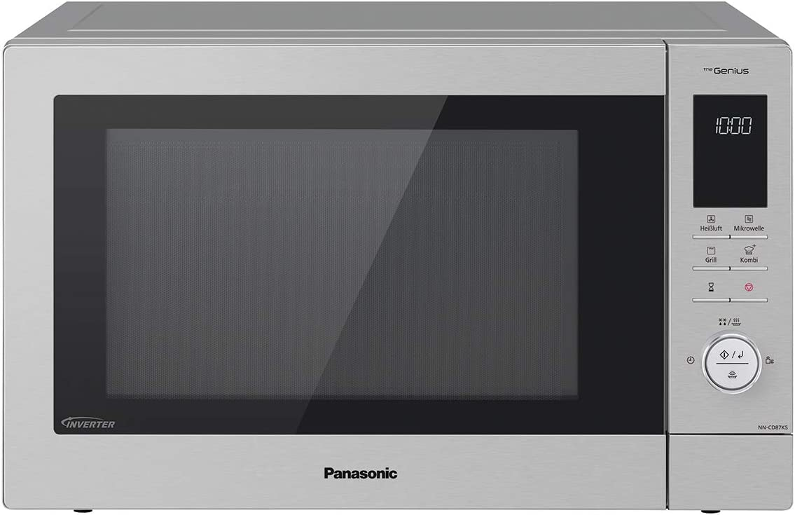 Panasonic NN-CD87 - Microondas combinadas (1000 W, con aire caliente y grill, microondas inverter, 34 L, acero inoxidable)