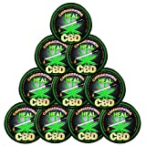Pack-10 Valxart CBD Cannabinoids Heal Stickers with Clear Lamination (10)