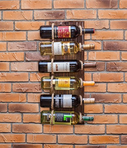 MyFancyCraft Handmade - Wood - Wine - Rack Natural Pine Decor Bottle ...