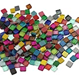 200Pcs/200g Mosaic Tiles Decoration Crafts 10MM Rectangle Mixed Color Glass